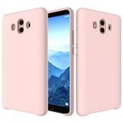 DFGHJ De Silicona Protectora Dropproof Sólido Líquido Color Caja del teléfono para Huawei Mate 10 (Negro) Regalo (Color : Pink)