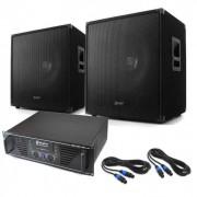 "Skytec Equipo DJ PA ""Lewis 1600 Bass Hurricane"" 45cm 1600W (PL-60000051-10001710)"
