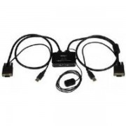 Startech 2 Port Usb Vga Cable Kvm Switch (usb Powered With Remote Swit