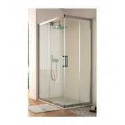 Mampara de ducha Angular TR105 02 fijos y 02 puertas correderas