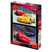 Puzzle 2 in 1 - Cars 3 Cursa cea mare 77 piese