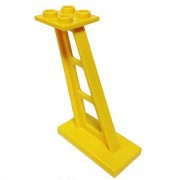 Lego Parts: Support 2 x 4 x 5 Stanchion Inclined 5mm wide posts (Yellow)