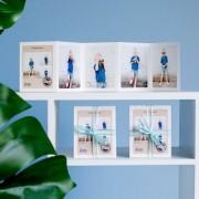 smartphoto Grusskarte 10-seitig Hochformat (12er Set) Weisser Schleife