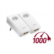 ZyXEL PLA5256 1000Mbps Pass-Thru Powerline Gigabit Adapter Kit PLA5256-EU0201F