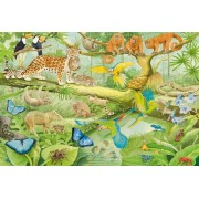 Puzzle Schmidt - Animals in the Jungle, 100 piese (56250)