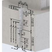 Euroline Steigleiter Stahl verzinkt SH 15,12m PG2