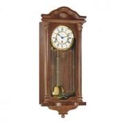 Ceas de perete mecanic Hermle 8 zile cu melodie 70509-030341 Nuc