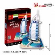Burj Al Arab - Puzzle 3D - 44 de piese