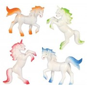 "Hands On Learning 3"" Enchanted Unicorns - Vinyl Unicorn Toys, 1 Dozen, Assorted Colored Unicorn Toy Figures, For Kids, Parties, Toys, and Gifts"