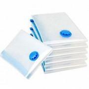 Set 12 saci pentru vidat haine dimensiune 60 x 80 cm transparent