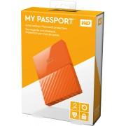 "2TB WD My Passport 2.5"" USB 3.0 Portable Hard Drive, Orange, Retail Box"
