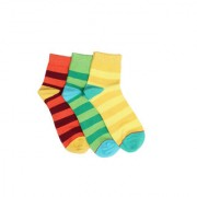 Soxytoes Citrus Champ Multi-Coloured Cotton Ankle Length Pack of 3 Pairs Unisex Casual Socks (SOSN0006)