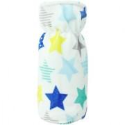 Neska Moda White And Blue Baby Feeding Velvet Bottle Cover (Capacity 125 ML) BC6