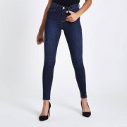 River Island Womens Dark Blue Molly jeggings - Size 36 short (EU)