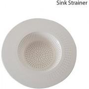 ROYALDEALSHOP Sink Mesh Strainer Cover Basket Drainer Trap Premium Plastic Cup/Cap White 2 PCs Big/Large Size Kitchen
