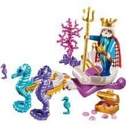 Playmobil 5885 Magic Castle Playset: King Neptune & Seahorse Chariot