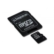 Micro SD Card, 16GB, KINGSTON MICRO, Class4, 1xAdapter (SDC4/16GB)