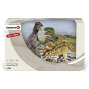 Schleich Three Dinosaurs Scenery Pack