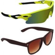 Zyaden Combo of 2 Sunglasses Sport and Wayfarer Sunglasses- COMBO 2684