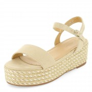 Sandalen met plateauzool