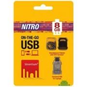 Strontium SR8GSBOTG1 8 GB Pen Drive(Silver)