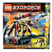 Lego Year 2007 Special Edition Exo-Force Series Mecha Vehicle Figure Set # 7721 - COMBAT CRAWLER X2 with Detachable Battle Machine