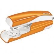 Capsator metalic 5502 Leitz cutie, 30 coli, portocaliu metalizat