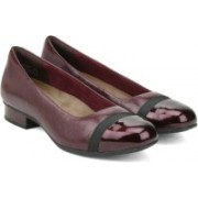 Clarks Keesha Rosa Aubergine Lea Slip on(Brown)