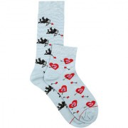 Soxytoes Cupid's Grace - His & Hers Sock Pack Multi-Coloured Cotton Crew Ankle Pack of 2 Pairs Unisex Anytime Socks (SOSN0055)