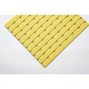 PVC-Profilmatte, pro lfd. m Lauffläche aus Hart-PVC, rutschsicher Breite 800 mm, gelb