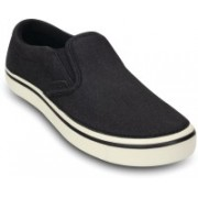 Crocs Hover Synth Suede Slip-on M Sneakers For Men(Black)