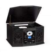 Auna NR-620 ретро стерео система с грамофон CD/MP3 черна (MG-NR-620 BL)