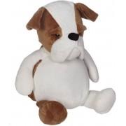 Knuffel Buster de Bulldog kan geborduurd worden met een naam of tekst