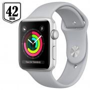 Apple Watch Series 3 MQL02ZD/A - Alumínio, Bracelete Desportiva, 42mm, 8GB - Prateado/Cor Nevoeiro