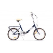 "Bicicleta Pegas Practic Retro, Cadru 16"", Roti 20"", 3 Viteze (Albastru)"