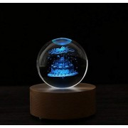 Royarebar Creative Baby Toys Music Boxes Remote Control Bluetooth Music Box with Led Light Up Crystal Ball(Birthday Cake)