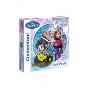 Puzzle Reloj Frozen Elsa Anna - Clementoni