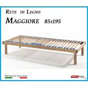ErgoRelax Rete in Legno Maggiore con 26 Doghe di Faggio e Regolatori Rigidità 85x195