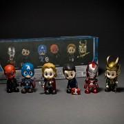 "3"" Iron Man Avengers Captain America Red Skull Thor Loki Cosbaby Set of 6"