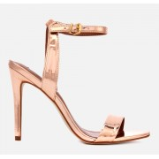 Steve Madden Women's Landen Barely There Heeled Sandals - Rose Gold - UK 7 - Gold
