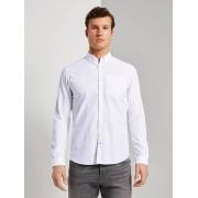 TOM TAILOR Shirt met paspelzak in slim fit, White, XXXL
