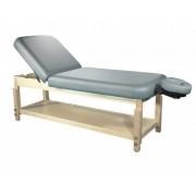 Masa masaj fixa din lemn cu spatar rabatabil - Pat cosmetica -Athena