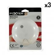 Lot de 3 détecteurs de fumée DAAF norme NF - Foxter