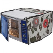 Glassiano Floral and Multi Printed Microwave Oven Cover for Samsung 20 Litre Solo Microwave Oven (MW73AD-B/XTL Black)