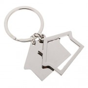 C2K Simple House Pendant Key Ring Keychains Kids Xmas Gifts Keychain Kid Silver