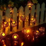 LED String Light Indoor/Outdoor, Ryham Battery Operated 4.9Ft 12LED Gold Fairy Lights Ball Curtain Lighting---Ideal Wedding, Christmas Tree, Halloween, Party, Bedroom(Yellow)