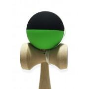 Kendama medie cauciucată verde