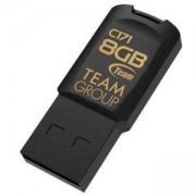 USB памет Team Group C171, 8GB, USB 2.0, Черен, TEAM-USB-C171-8GB-BLACK