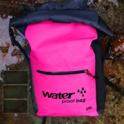 25L Large Capacity Outdoor Sports Backpack Waterproof Foldable Double Shoulder Bag - Pink
