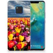 Huawei Mate 20 Pro Uniek TPU Hoesje Tulpen